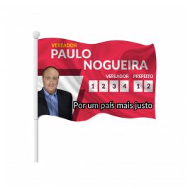 Bandeira em Tecido 140x90cm Tecido Oxford com Bastão Tamanho Personalizado