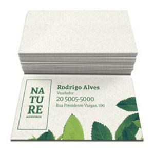 Cartão de Visita em Papel Reciclado - ARTE GRÁTIS !
