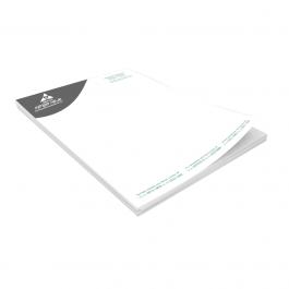 Receituário Preto e Branco Papel Sulfite 75g  preto  Bloco com 100 folhas